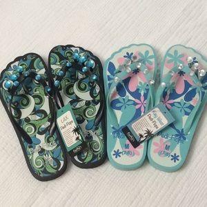 Shoes - NWT pedicure flip flops #2 pair